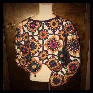 Vintage 70s Crochet crop top